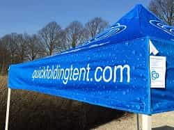 Quick Folding Tent - demo met full color print