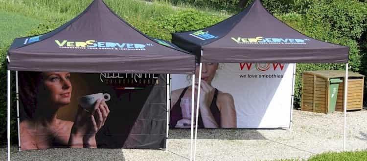 Quick Folding Tent met print