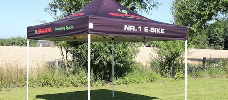 Quick Folding Tent met print Sparta Bikes
